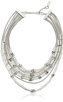 "Kenneth Cole New York Textured Metals"" Geometric Bead Mesh Multi-Row Layered Necklace, 20"""