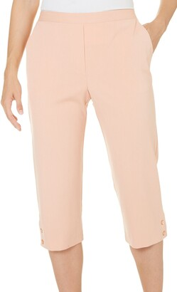 Alfred Dunner Women's Solid Colored Capri