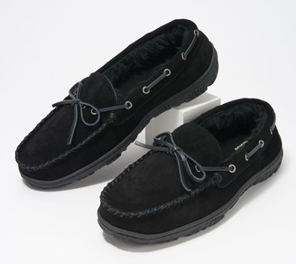Clarks Suede Men's Faux Fur Lined Moccasin Slippers