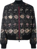 Givenchy floral embroidered bomber jacket - women - Polyamide/Polyester/Viscose/Wool - 36