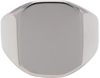 Saskia Diez Silver Square Signet Ring