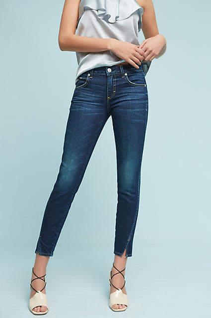 Amo Twist Mid-Rise Skinny Cropped Jeans