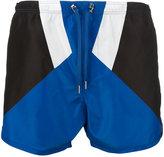 Neil Barrett colour block swim shorts - men - Polyester - L