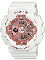 Baby-G Pink Dial White Resin Strap Watch