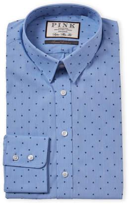 Thomas Pink Blue & Navy Super Slim Fit Dress Shirt