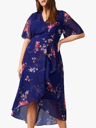 Studio 8 Evie Floral Wrap Dress, Cobalt/Multi