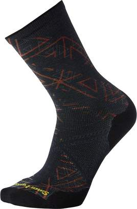 Smartwool PhD Run Light Elite Print Crew Sock - Men's