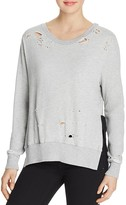 Pam & Gela Destroyed Side Slit Sweatshirt
