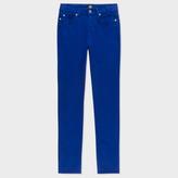 Paul Smith Women's Skinny-Fit Blue Brushed Denim Jeans