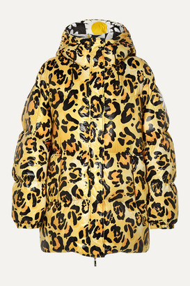 MONCLER GENIUS 0 Richard Quinn Mary Oversized Hooded Leopard-print Quilted Shell Down Jacket - Leopard print
