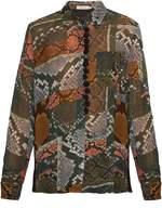 Preen Line Beth snake-print shirt