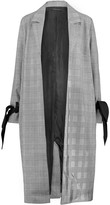 Mother of Pearl Houndstooth knitted coat