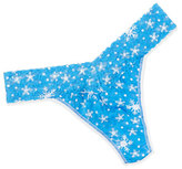 Hanky Panky Snowflake Signature Lace Low-Rise Thong, Blue/White
