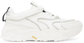 Solid Homme White Leather Low-Top Sneakers