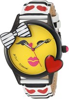 Betsey Johnson Women's BJ00610-01 Bow and Heart Bezel Face Motif Dial Watch