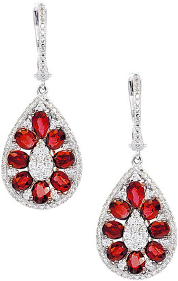Diana M Fine Jewelry 14K 3.83 Ct. Tw. Diamond & Ruby Drop Earrings