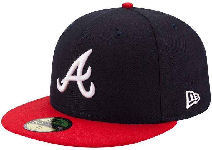 New Era 59FIFTY Atlanta Braves /Red MLB 2017 Authentic Collection On Field Home Cap