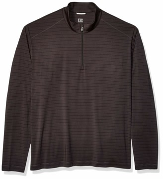 Cutter & Buck Men's Moisture Wicking Drytec UPF 50+ Stripe Half Zip Pullover