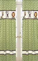 JoJo Designs Jungle Time Green Leaf Print Window Treatment Panels by Sweet Set of 2