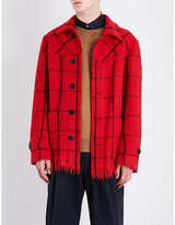 Dries Van Noten Viaan Checked Wool-blend Coat