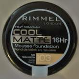 Rimmel Cool Matte 16 Hr Mousse Foundation True Ivory 103 by