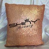 ShinyBeauty Blush-Sequin Pillow Cover-12x12-Inch,Shimmer Pillow Cover,Sparkly Sequins Pillow Cover (Blush)