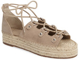 Marc Fisher Vally Lace-Up Platform Espadrille (Women)