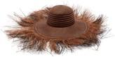 Greenpacha Morea Fringed Toquilla-straw Hat - Womens - Brown