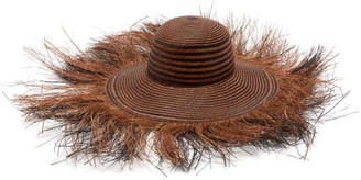 Greenpacha Morea Fringed Toquilla-straw Hat - Womens - Brown