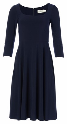 Eliza J Women's 3/4 Sleeve Scoop Neck FIT and Flare Dress