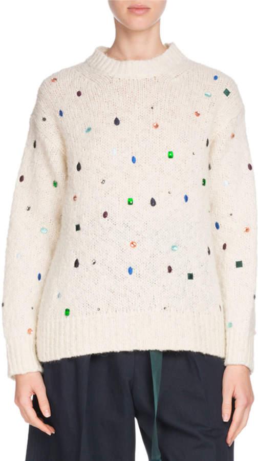 Kenzo Comfort Embellished Mock-Neck Sweater