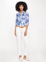 J.Mclaughlin Britt Linen Shirt in Deco Shell