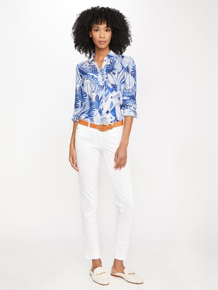 J.Mclaughlin Britt Linen Shirt in Deco Shell