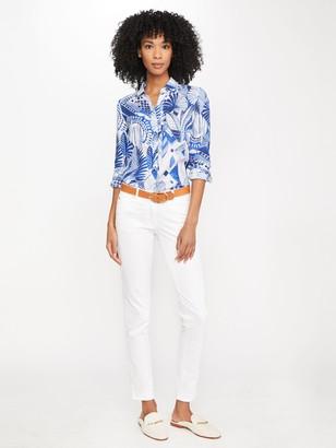 J.Mclaughlin Britt Linen Shirt in Royal Palm