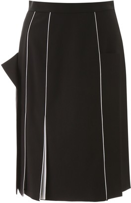 Burberry Piping Detail Skirt