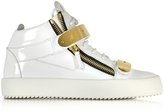 Giuseppe Zanotti White Patent Leather High Top Sneaker