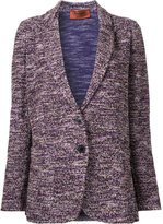 Missoni loose-fit blazer - women - Cotton/Polyester/Viscose/Wool - 44