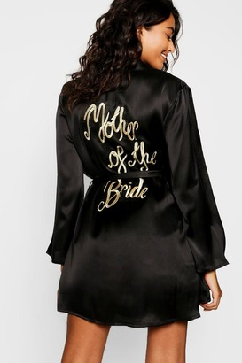 boohoo Mother of the Bride Embroidered Robe