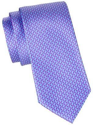 Canali Diamond Pattern Silk Tie