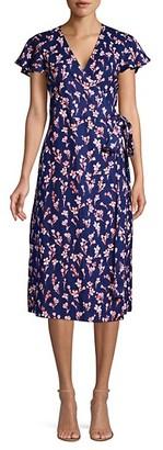 Draper James Floral Linen Wrap Dress