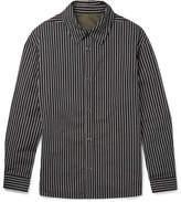 Lanvin Reversible Striped Cotton-Blend Twill Shirt Jacket
