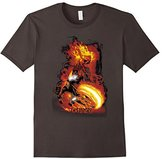 Marvel Ghost Rider Fire Fury Graphic T-Shirt Adult