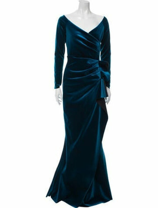 Chiara Boni V-Neck Long Dress w/ Tags Blue