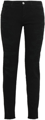 Just Cavalli Distressed Mid-rise Skinny Jeans