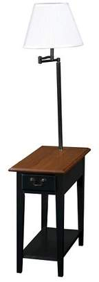 Leick Home Swing Arm Lamp Chairside End Table Antique Black