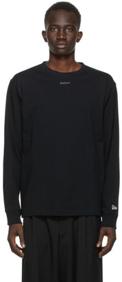 Yohji Yamamoto Black New Era Edition Logo Long Sleeve T-Shirt
