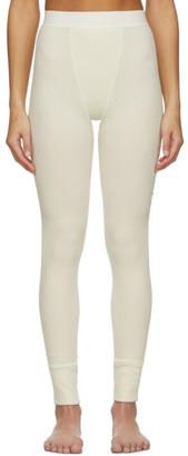 SKIMS Off-White Cotton Rib Leggings