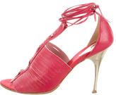 Just Cavalli Leather Lace-Up Sandals