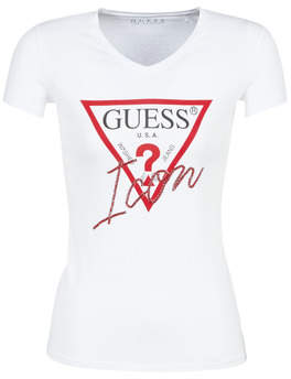 GUESS ICON women's T shirt in White