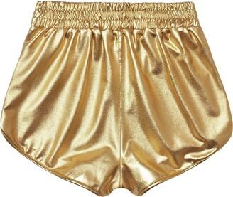 Jiegorge Trousers Pants Fashion Women High Waist Yoga Sport Pants Shorts Shiny Metallic Pants Leggings